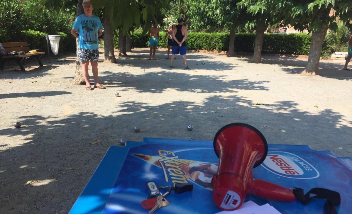 Jeu de boules au camping Azur Rivage